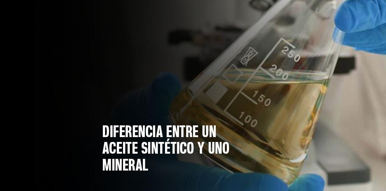 Diferencia entre un aceite sintético y uno mineral