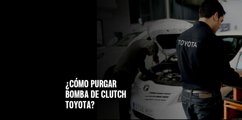 Cómo purgar la bomba de clutch Toyota